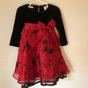 Size 2T red/black holiday dress